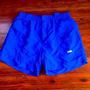 AFTCO athletic fishing cargo shorts sz 36